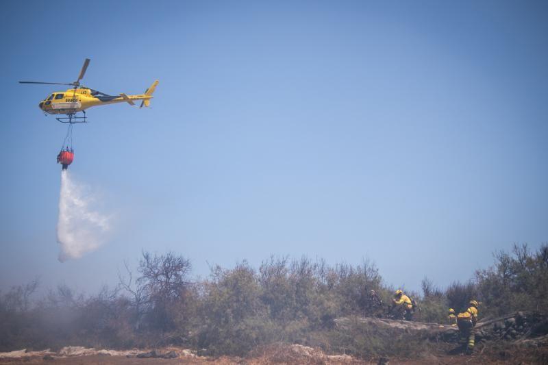 Incendio en Granadilla