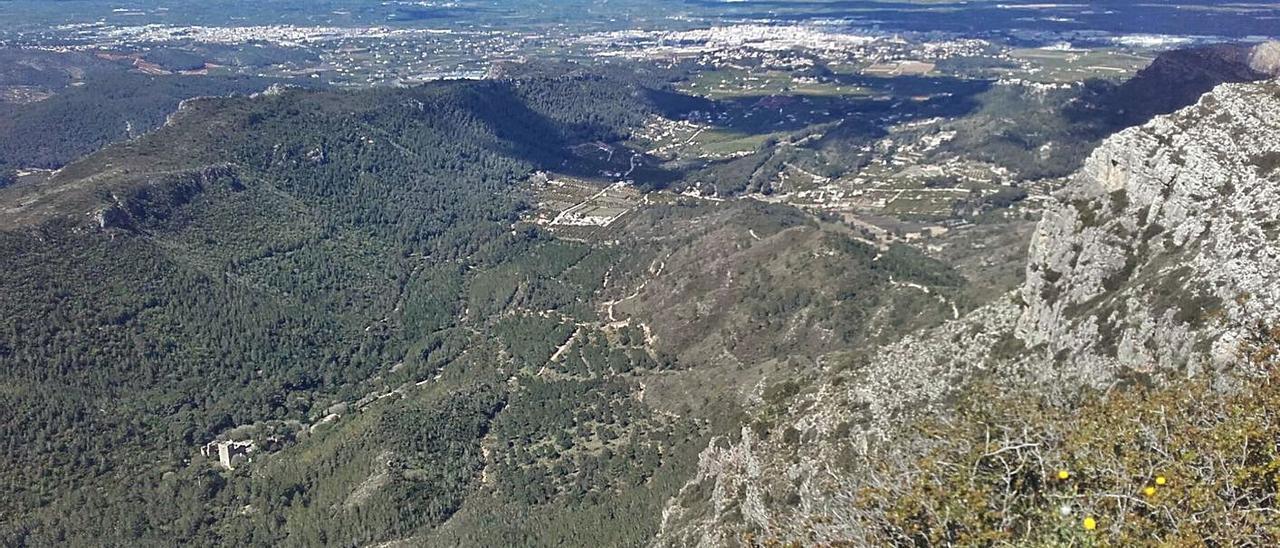 Vista aérea del valle de la Murta en una imagen de archivo. | B.C.