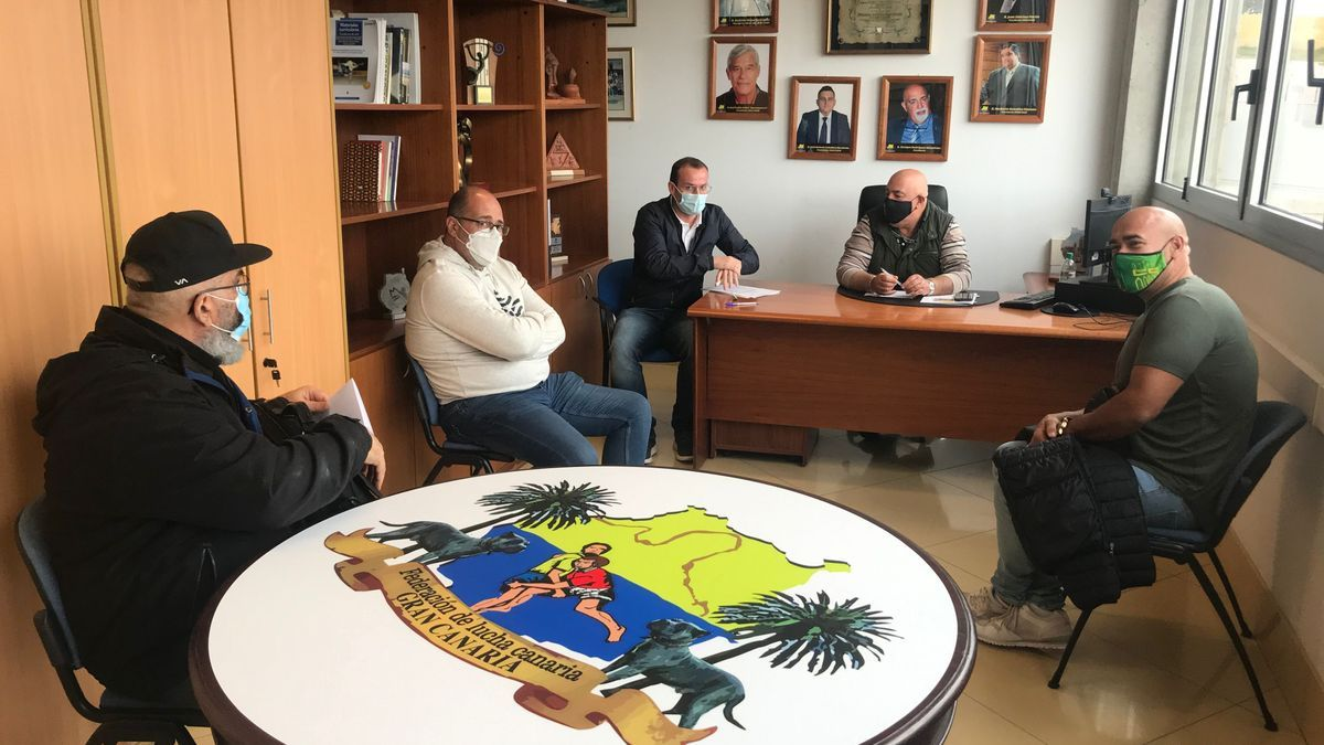 Meetings between the Canary Island Wrestling Federation of Gran Canaria and the clubs