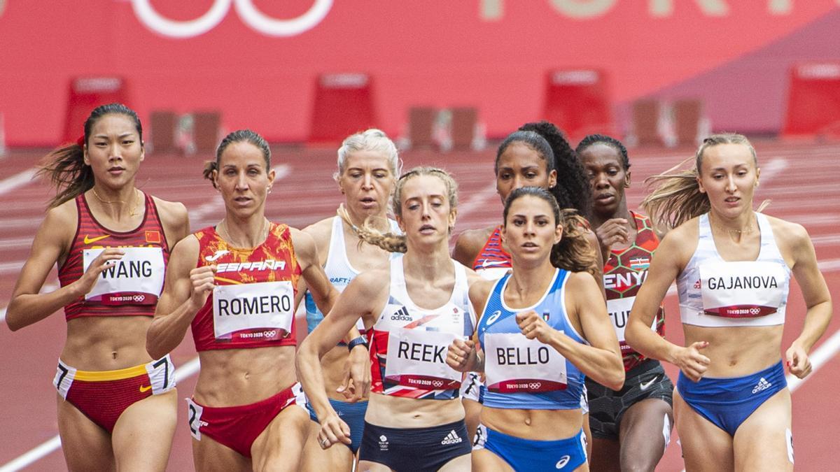 Natalia Romero, durante la clasificatoria del 800 femenino