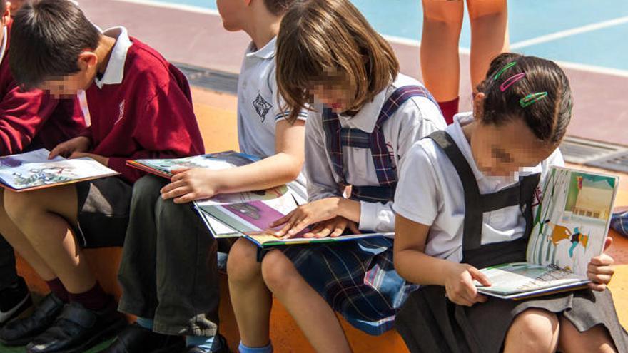 Niños en un colegio concertado.