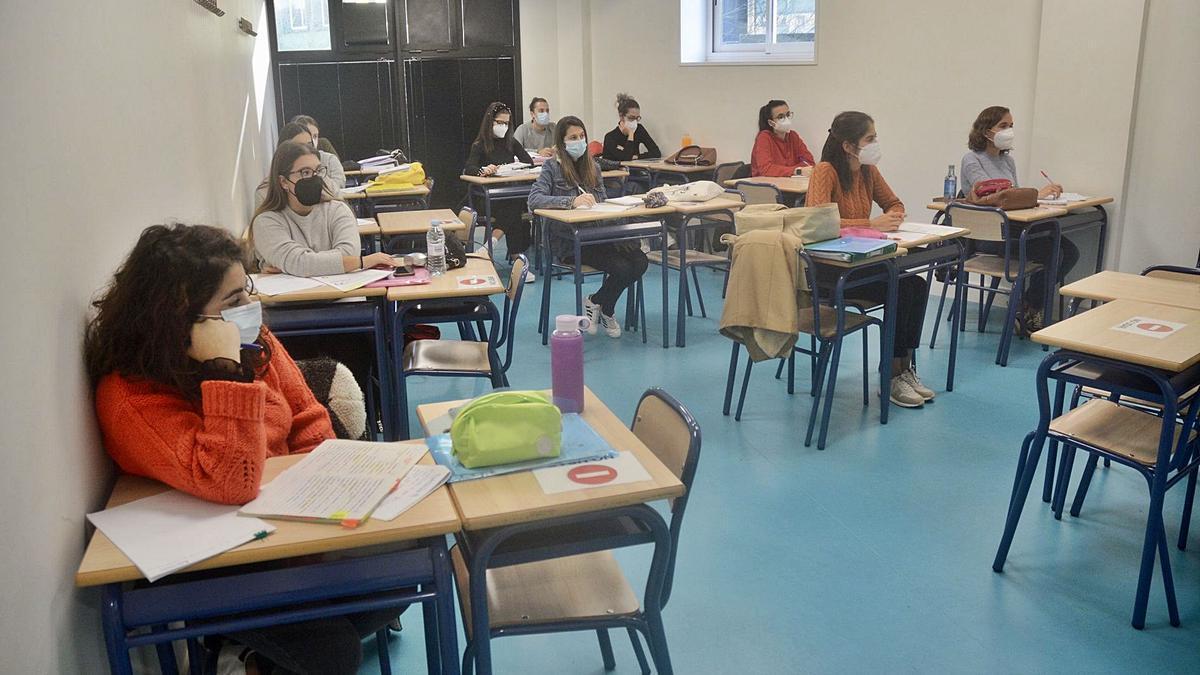 Alumnas de una academia de oposiciones.