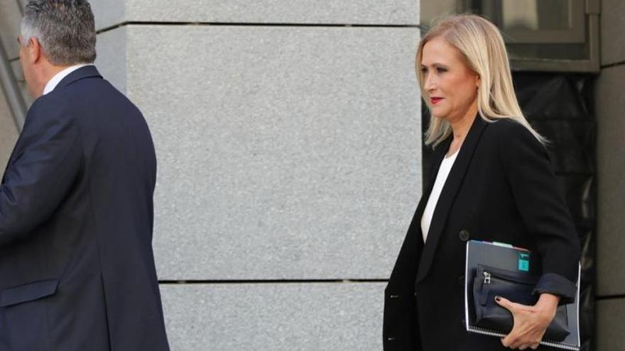 Cifuentes llega a la Audiencia Nacional para declarar en el 'caso Púnica'