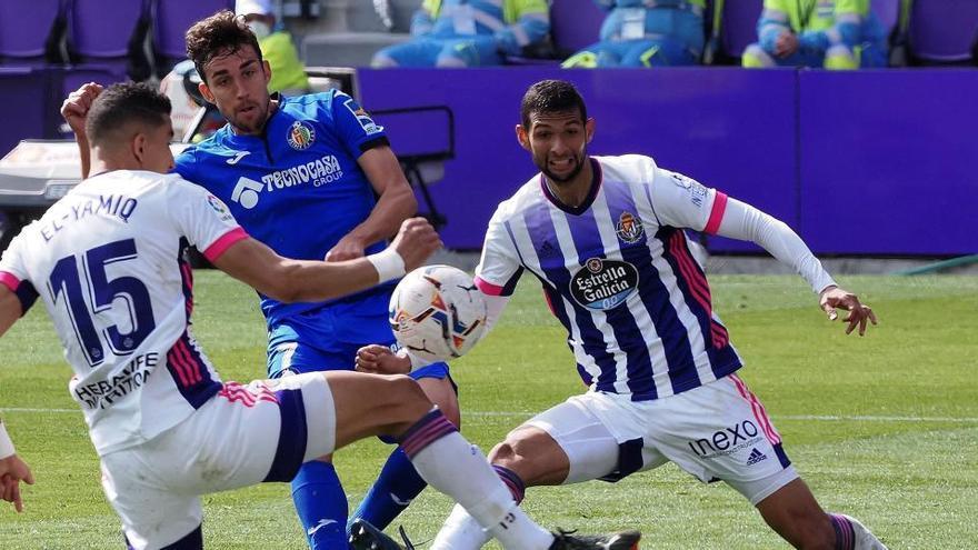 El Real Valladolid gana ocho jornadas después ante el Getafe