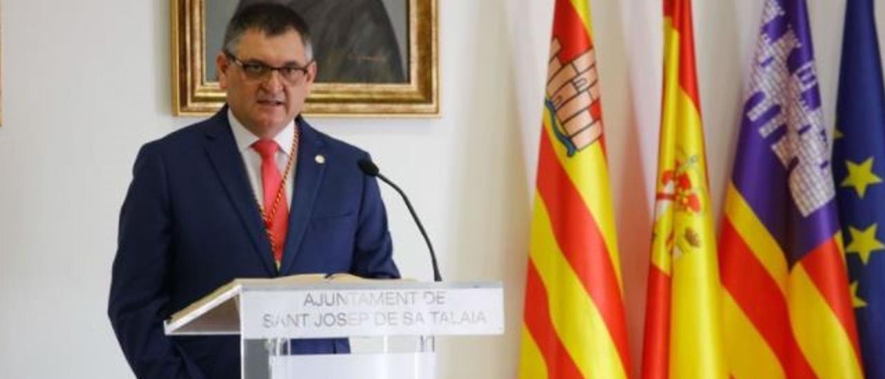 El alcalde de Sant Josep, Àngel Luis Guerrero