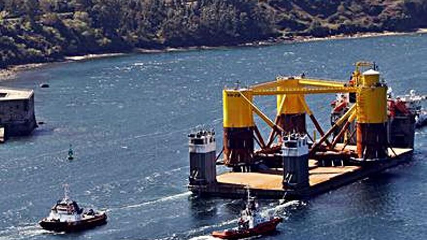 Zarpa de Navantia una estructura para el parque eólico marino de Kincardine