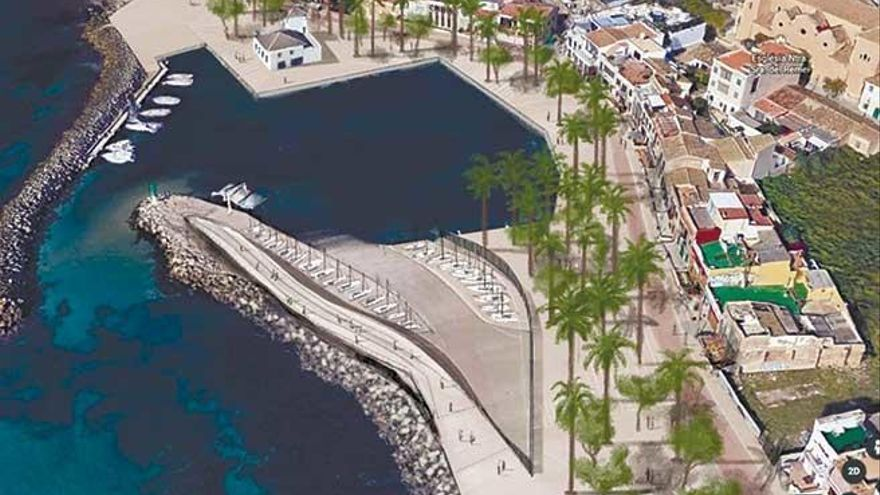 Wellenbrecher, Flaniermeile, Segelschule: die neuen Pläne für den Yachthafen Molinar