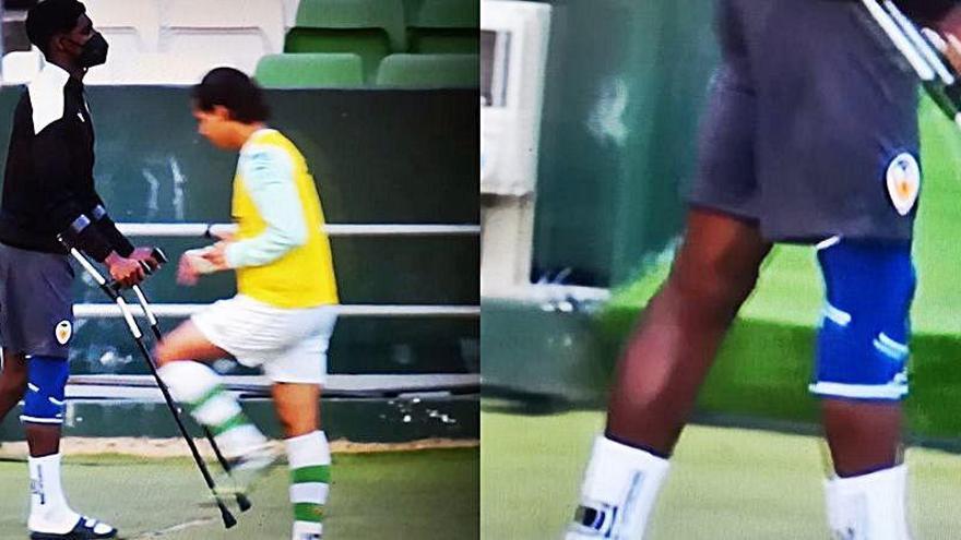 Peligro con la lesión de rodilla de Thierry Correia