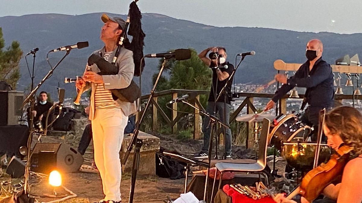 Carlos Núñez, en el concierto de Monteferro el año pasado.