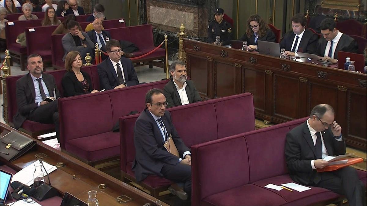 Una imagen del juicio del procés en el Tribunal Supremo