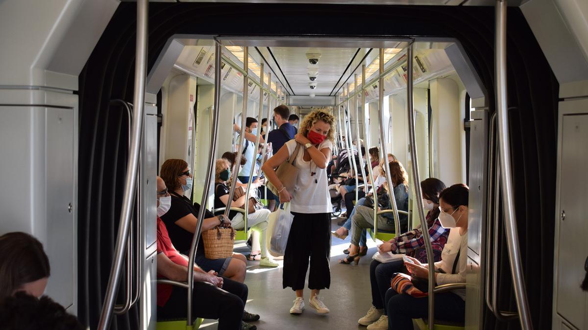 El metro es uno de los medios con menos impacto.
