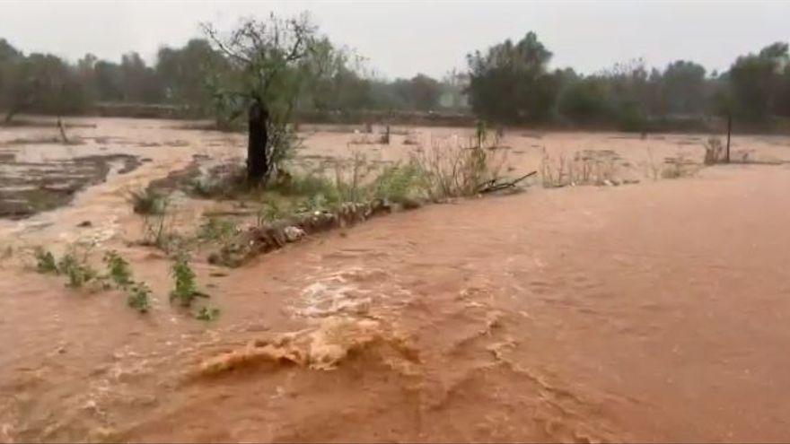 La gota fría provoca inundaciones en varios municipios de Mallorca