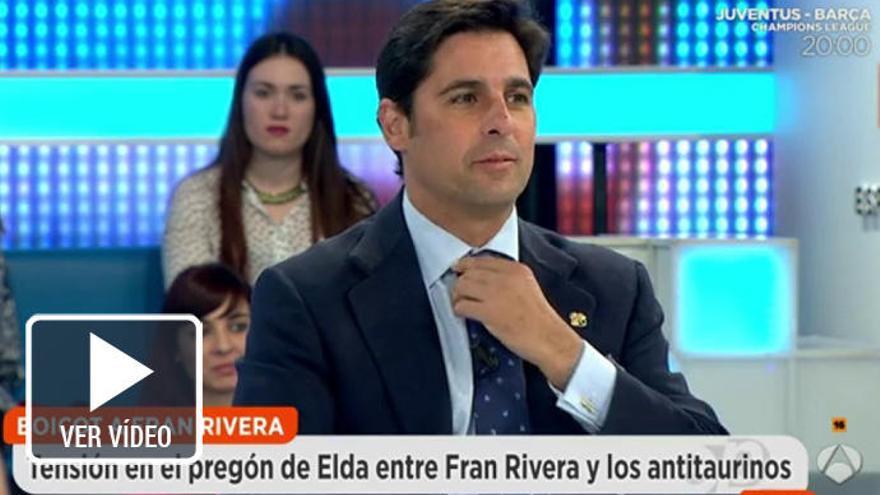 """El polémico ataque de Fran Rivera: """"¿Para ser antitaurino hay que dejar de ducharse?"""""""