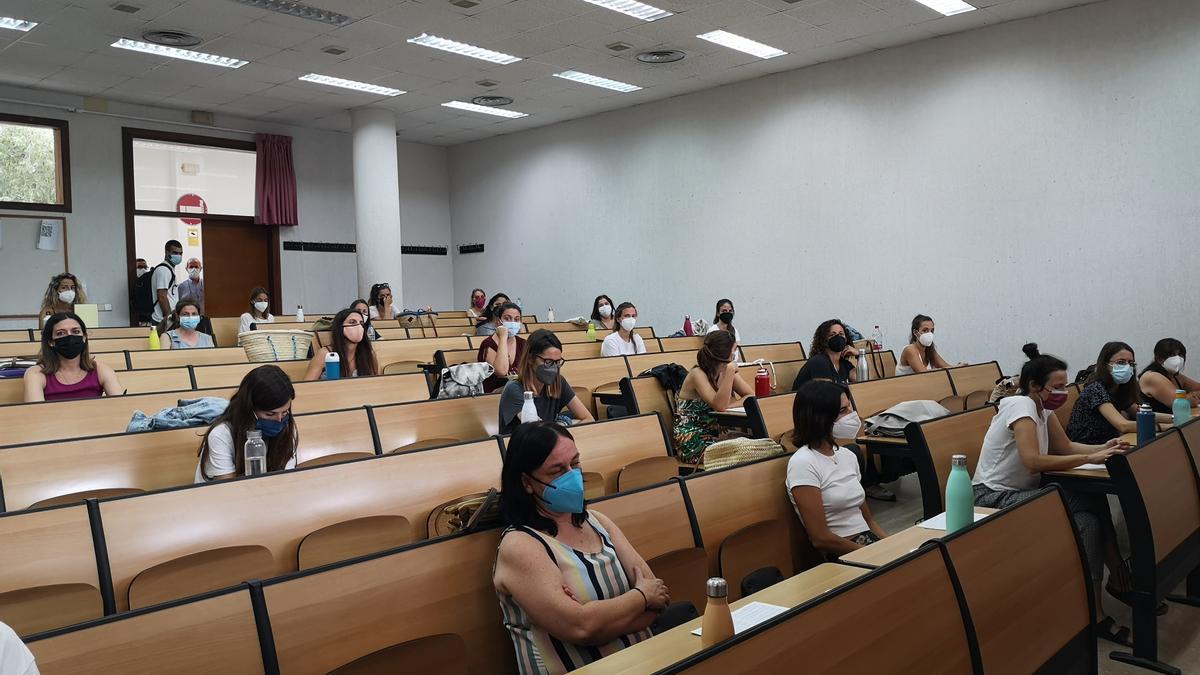 Las oposiciones docentes han empezado en la UIB.