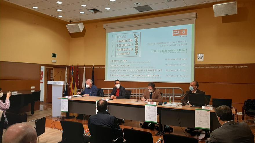 El PSPV de Alicante trasladará a todos los municipios de la Comunidad las conclusiones del foro sobre Cambio Climático