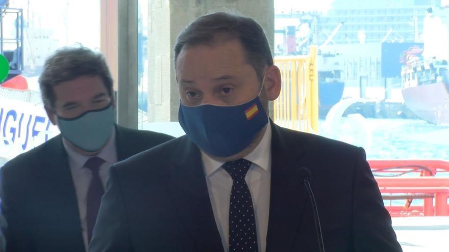 José Luis Ábalos responde sobre la posibilidad de que Transmediterránea pida el rescate