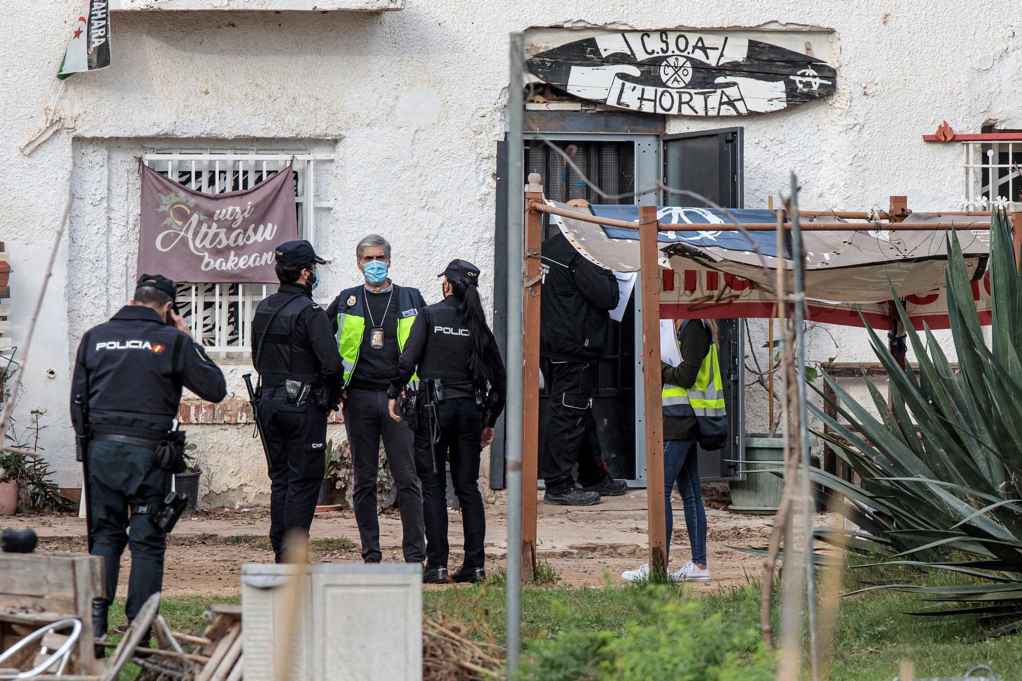 Desalojo en un casal okupa en Benimaclet