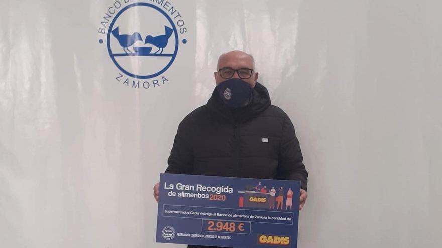 Gadis entrega al Banco de Alimentos de Zamora 2.948 euros donados por los clientes