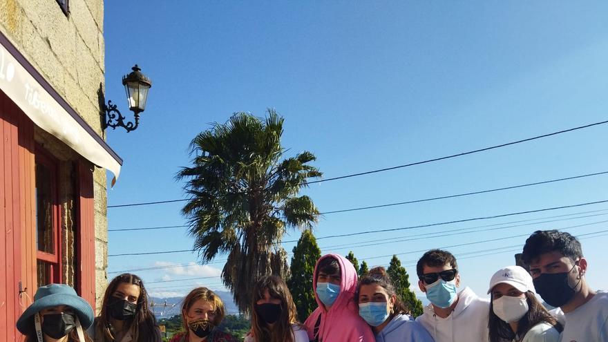 Concentración de youtubers en Cangas