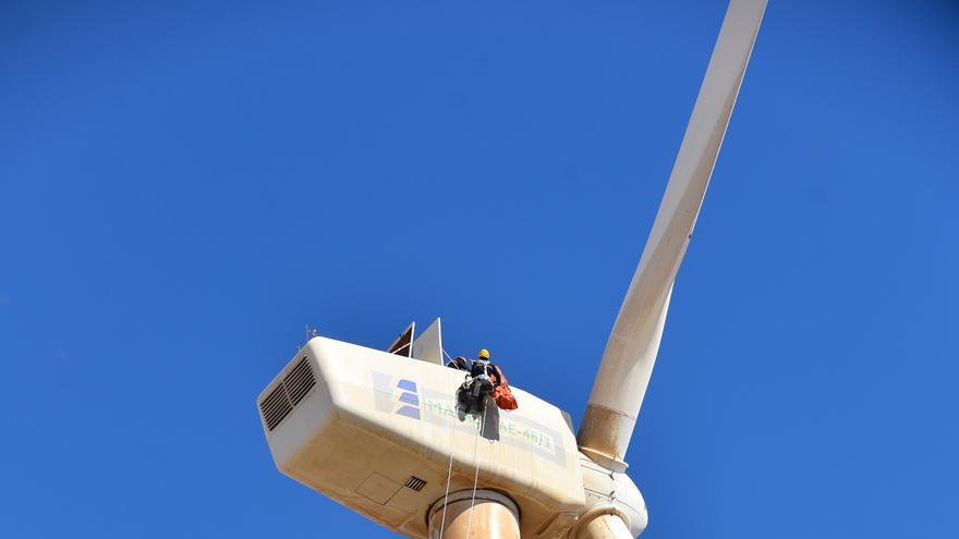 Un rescate a 45 metros de altura