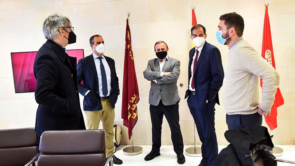 Francico Cobacho, Antonio Rubio, Francisco Miró, Daniel Moreno y Álvaro Ruiz.