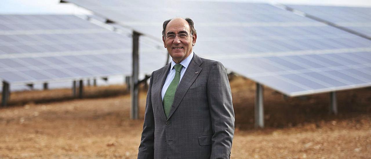 El presidente de Iberdrola, Ignacio Galán, en una de las plantas de la compañía.  | INFORMACIÓN