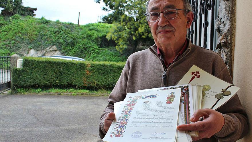 Ramón Bedia, el asturiano que completó 17 veces el Camino de Santiago