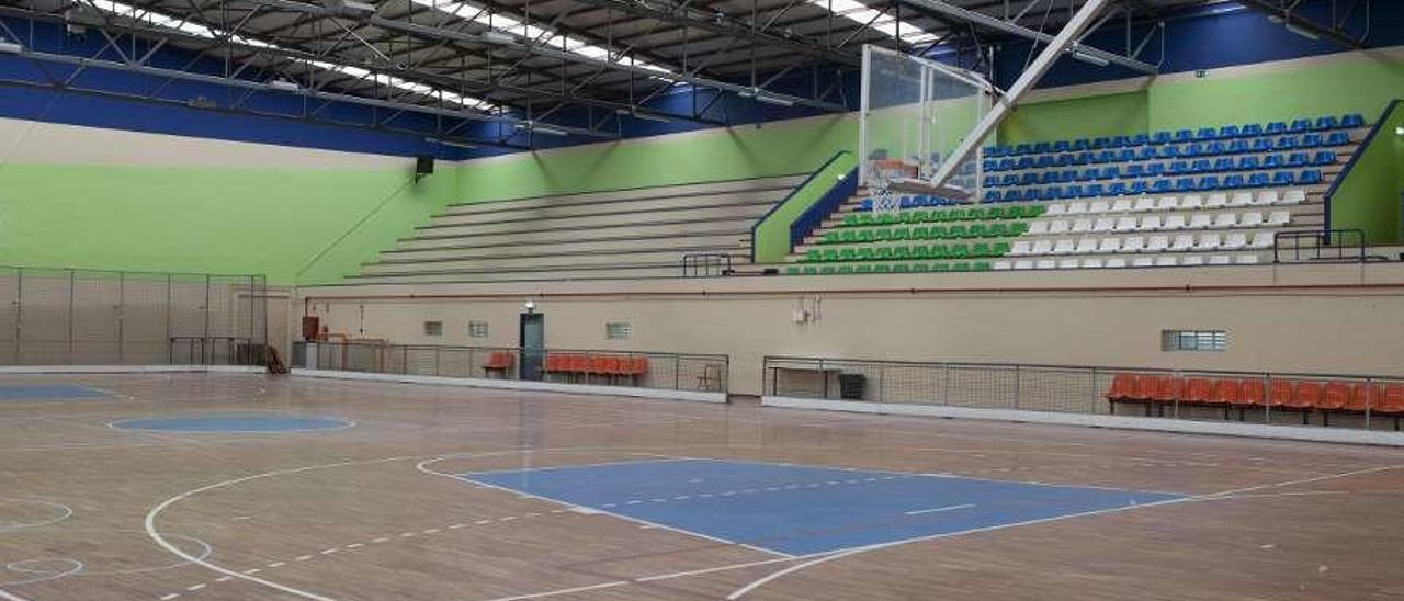 El polideportivo municipal de La Felguera.