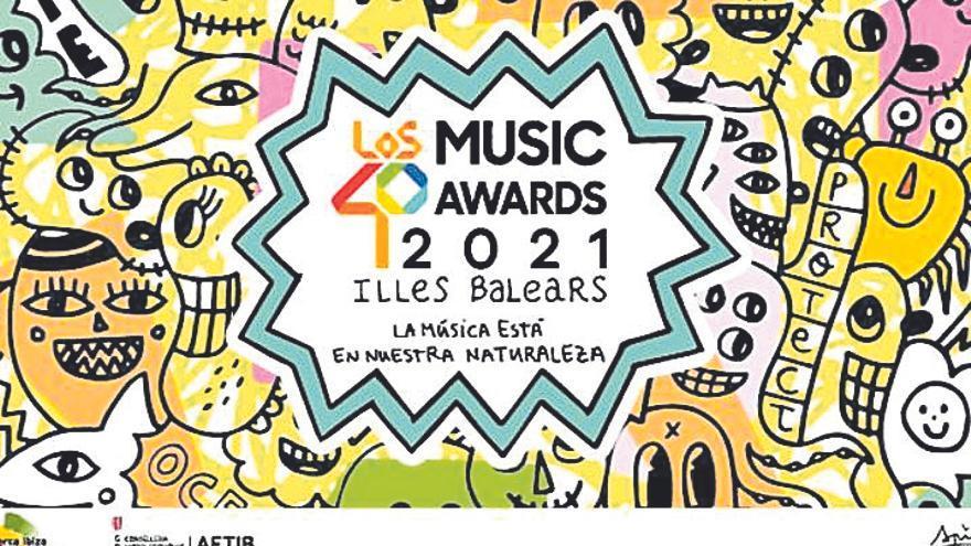 Albert Pinya  diseña la imagen de Los 40 Music Awards, que se harán en Palma