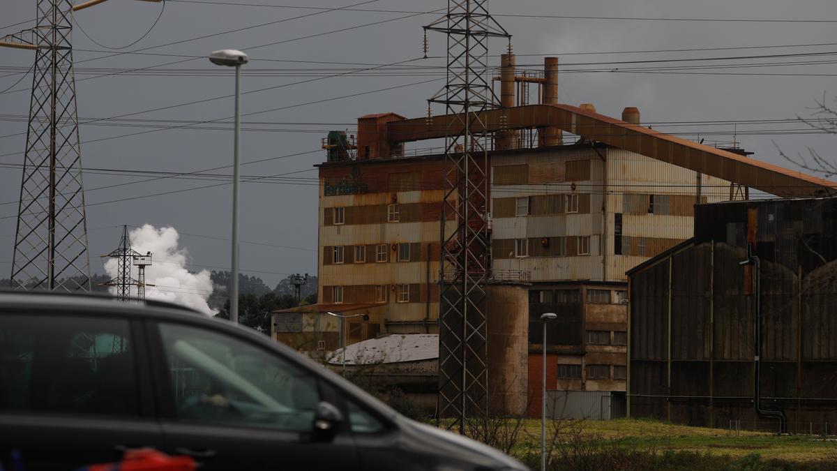 La fábrica de Fertiberia en Trasona.