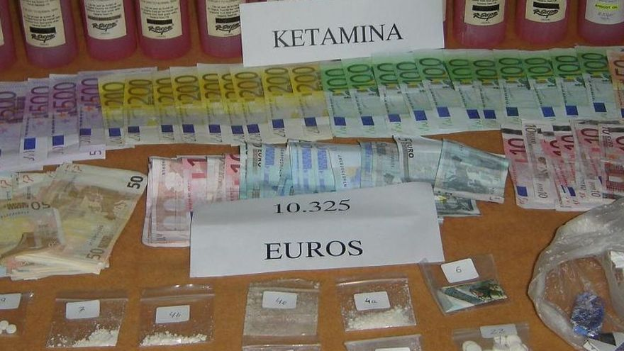 La Guardia Civil y la Policía de Miami intervinieron en Eivissa 14 litro de ketamina. GUARDIA CIVIL