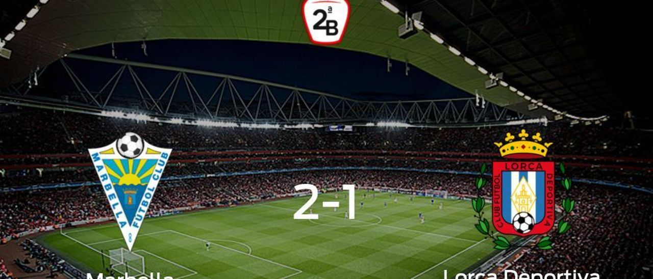 El Marbella vence 2-1 al Lorca Deportiva en el Antonio Lorenzo Cuevas