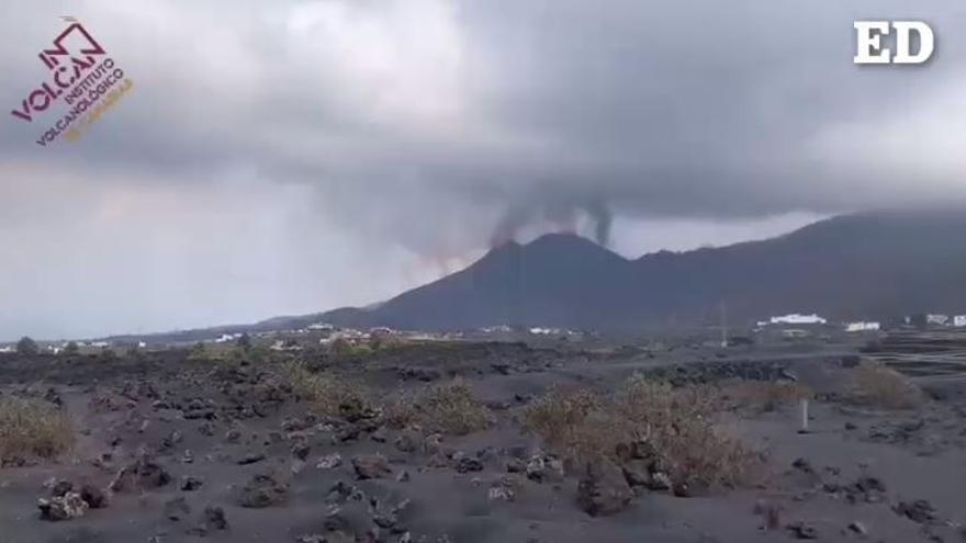 El volcán desde Caños de Fuego