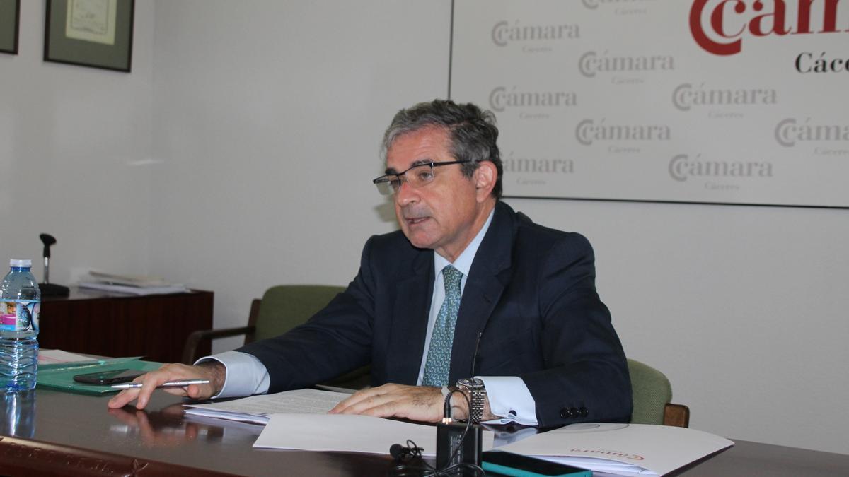 Gabriel Álvarez, presidente de la Cámara de Comercio de Cáceres.