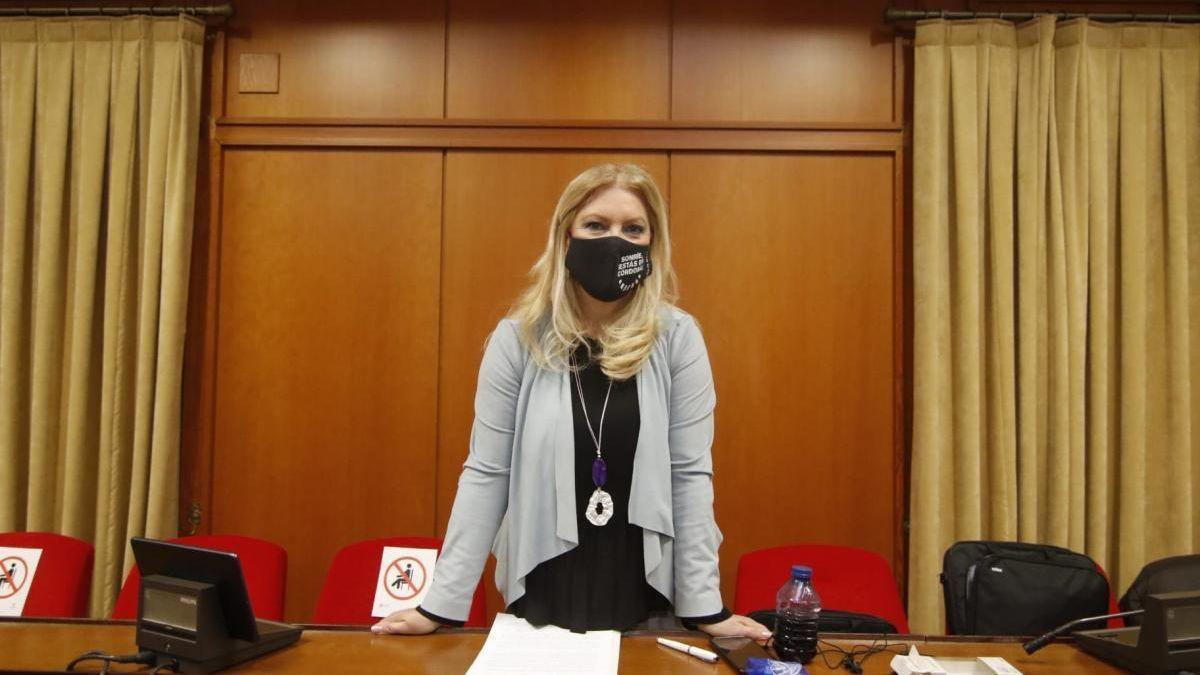 Cristina Pedrajas, en uno de los plenos del mandato.