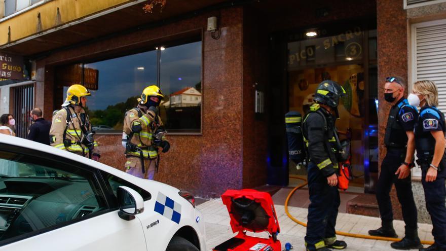 Incendio urbano en Vilagarcía