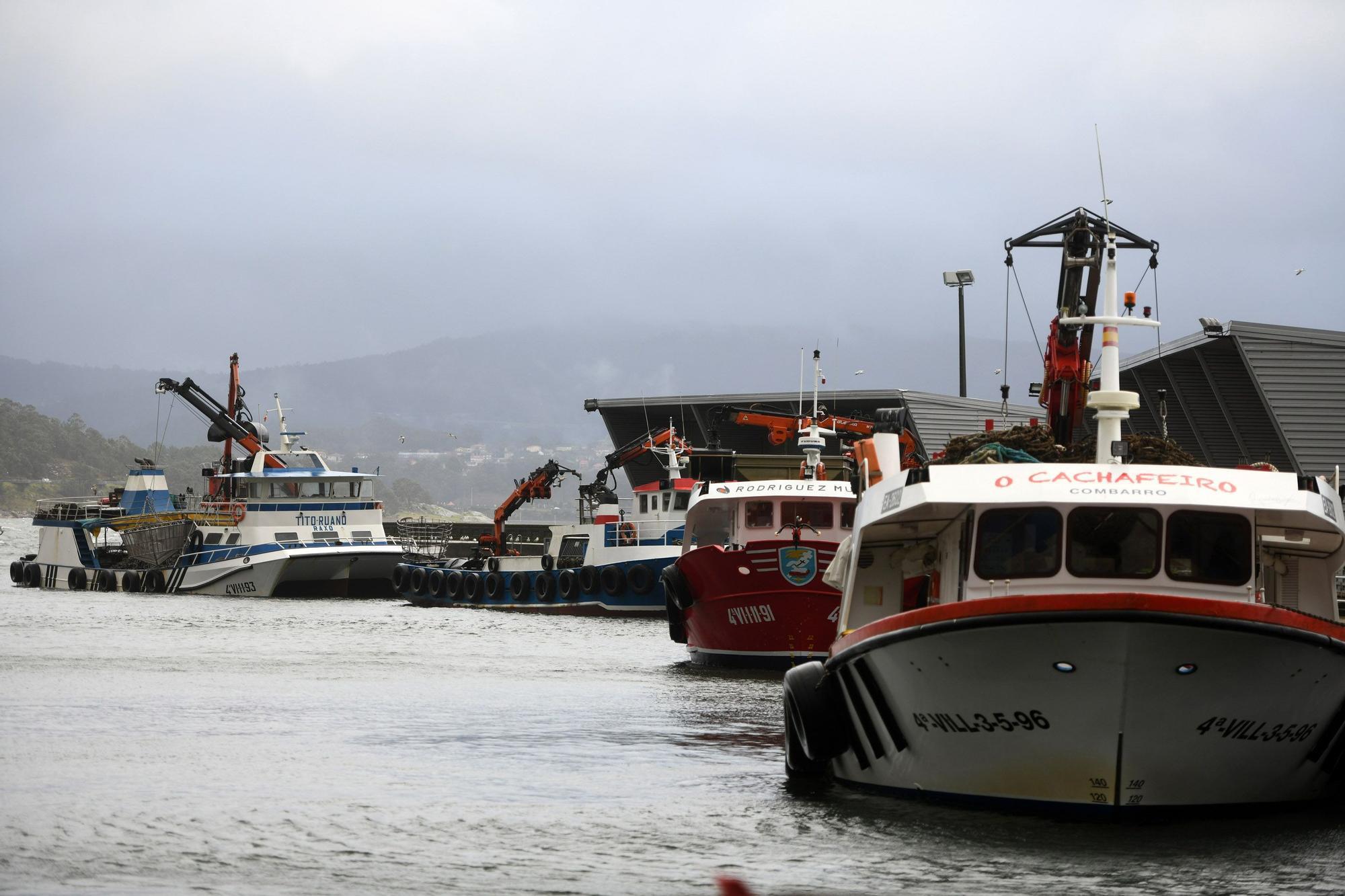 La borrasca Hortense amarra la flota en Poio y Sanxenxo