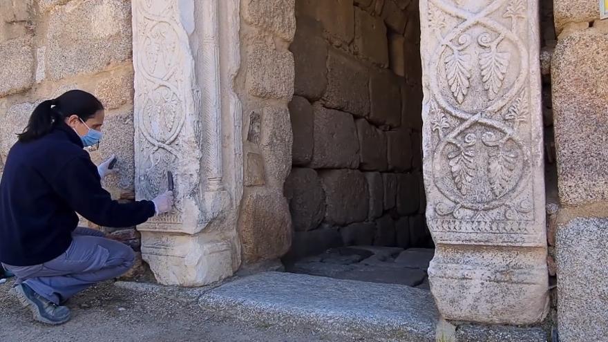 El consorcio realiza trabajos de conservación en las pilastras del aljibe