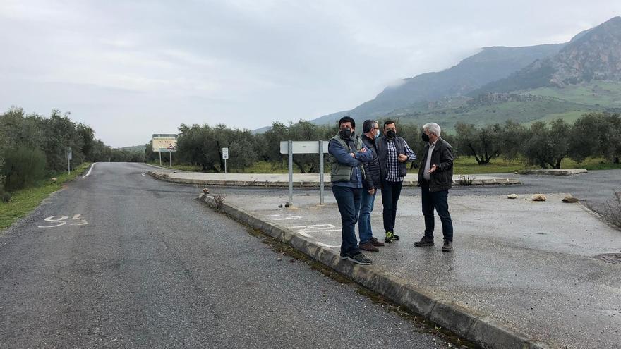 Mejoras en las carreteras de acceso a la Sierra de las Nieves por El Burgo