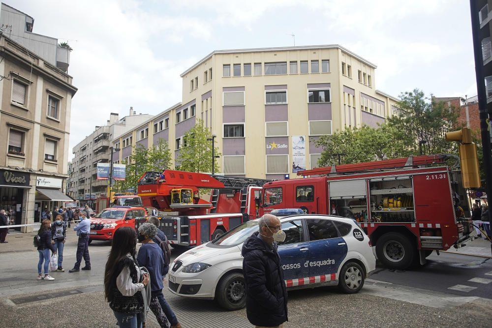 Incendi al col·legi La Salle de Girona