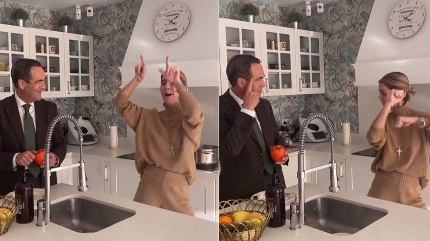 José Bono es tendencia con el peculiar baile de su hija en Tik Tok