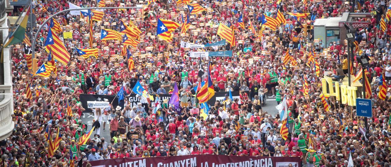 Les millors imatges de la Diada 2021   La manifestació de l'11-S a Barcelona
