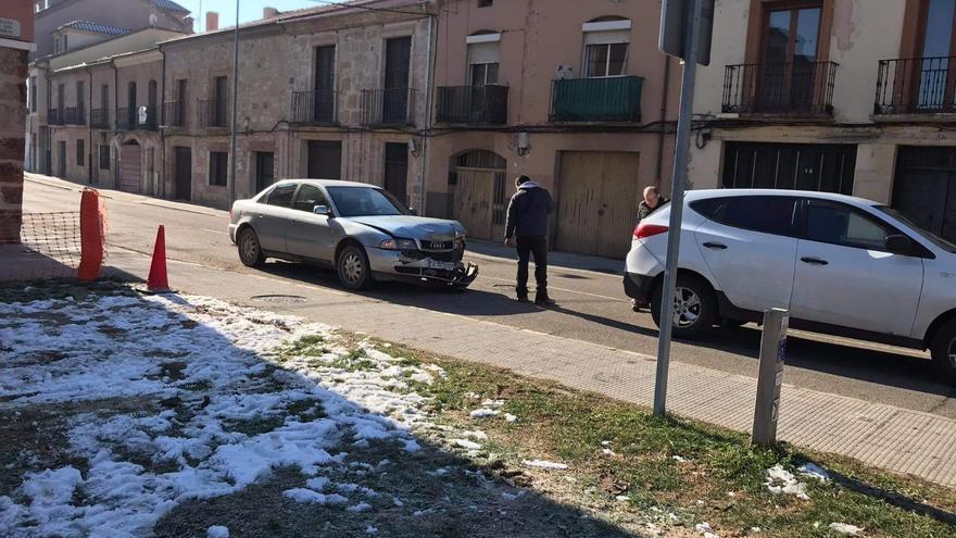 Un hombre herido leve en un accidente en Zamora capital