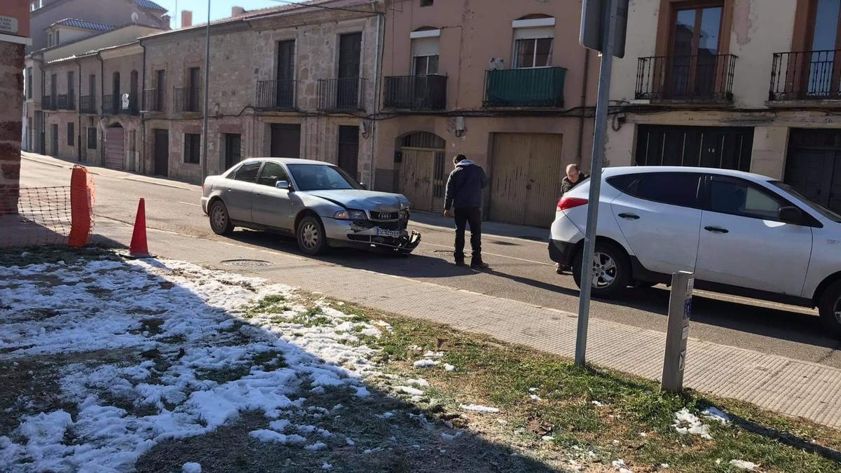 Accidente ocurrido en la calle de Cabañales de Zamora