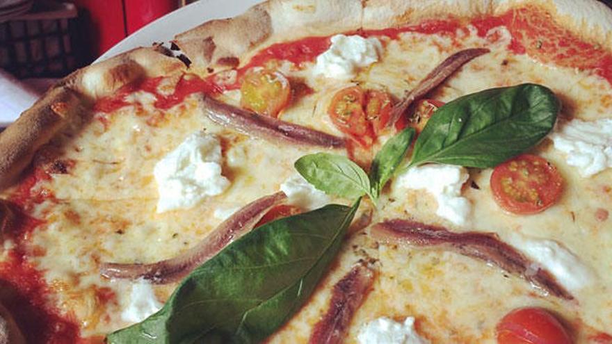 La Taverna dell' Artista, pizza italiana para todo tipo de intolerancias