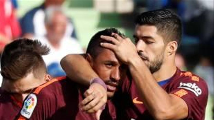 Paulinho salva a un Barcelona que se complicó la vida en Getafe