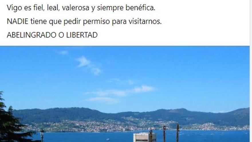 """El PP de Vigo emula a Ayuso para cargar contra el alcalde: """"Abelingrado o libertad"""""""