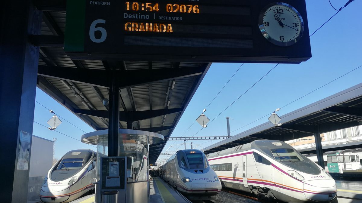 Tren Ave con destino a Granada.