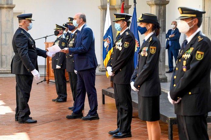 Jura del cargo de los nuevos inspectores de policía en Gran Canaria