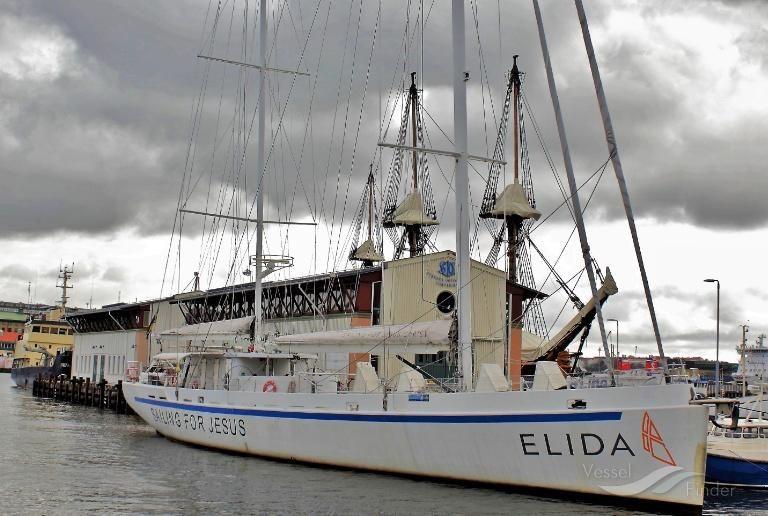 Elida V, yate de superlujo que ha atracado en el Puerto de Málaga este año.